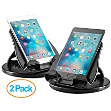 Halter 2 Pack Of Tablet Stand with 360° Swivel Base and 4 Angle Tilt Adjustment for 7