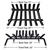 Amagabeli Fireplace Log Grate 24 inch Wide Heavy