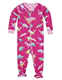 Hatley - Baby Baby-Girls Newborn Footed Coverall-Girl Dinos, Pink, 3-6 Months
