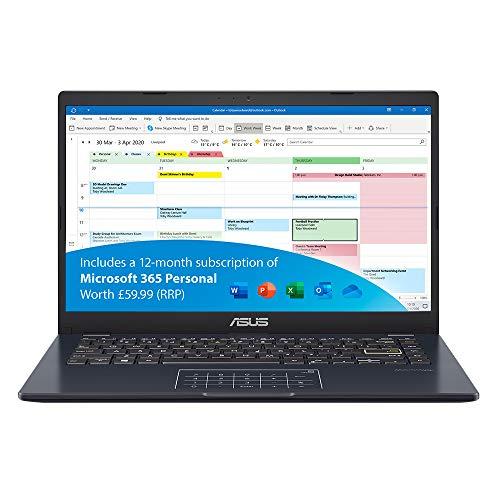 ASUS VivoBook with Microsoft Office 365 – E410MA Full HD 14 inch Laptop (Intel Celeron N4020, 4GB RAM, 64GB eMMC…