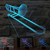 3D Saxphone Trombone Night Light Table Desk Optical Illusion Lamps 7 Color Changing Lights LED Table Lamp Xmas Home Love Brithday Children Kids Decor Toy Gift For Sale