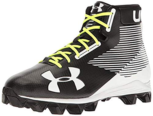 Under Armour Boy's Hammer Mid RM Jr. Football Cleats Black/White Size 4 M US