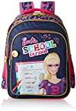 Barbie Polyester 16 Inch Pink and Navy Children's Backpack (Age group :6-8 yrs)