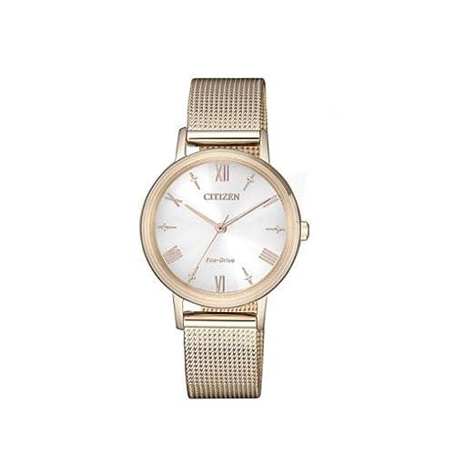 da8599a595a6 Citizen Lady - Reloj para Mujer Eco Drive Chapado Oro Rosa EM0576-80X   Amazon.es  Relojes