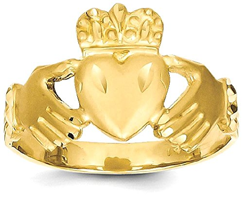 14k Gold Celtic Rings (ICE CARATS 14k Yellow Gold Irish Claddagh Celtic Knot Band Ring Size 10.00 Fine Jewelry Gift Valentine Day Set For Women Heart)