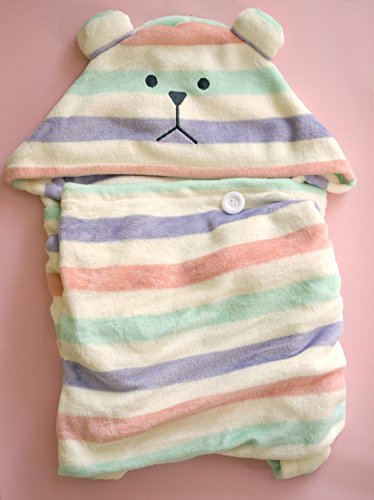 CRAFTHOLIC Super Soft Hoodie Blanket - Unisex Cozy Blanket With An Animal Hood / Cupcake Sloth Teddy Bear - 27.5'' X 55'' - 100% Polyester by Craftholic (Image #6)