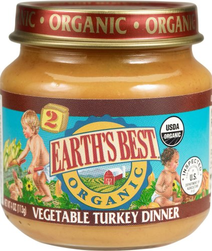 (Earth's Best 2nd Turkey/Vegetable, 4-Ounce Jars (Pack of 24))