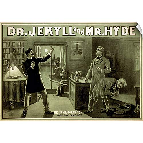 CANVAS ON DEMAND Wall Peel Wall Art Print Entitled Dr. Jekyll and Mr. Hyde - Vintage Theatre Poster 30