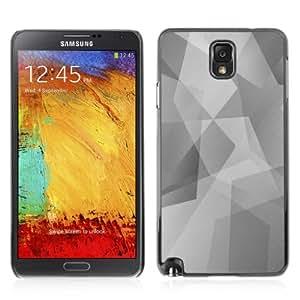 YOYOSHOP [Cool Polygon B&W Pattern] Samsung Galaxy Note 3 Case