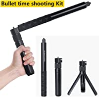 DishyKooker For Insta 360 Paranomic Camera Handheld Selfie Stick Monopod 1/4 Screw 360 Rotated Handle Grip for Insta360 One VR Sports Camera (Standard Version)