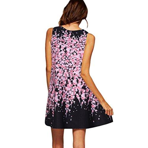 Bowknot Vestidos Cóctel Dragon868 Casual Vestido C Mini Las Florales Jóvenes De Verano Playa Mujeres Mujer gUzzqwax8O