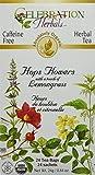 Celebration Herbals Organic Hops Flowers Tea Caffeine Free, 24 Herbal Tea Bags