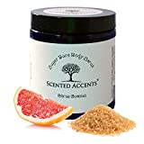 All Natural Sugar Bare Body Scrub Citrus Coconut / Gentle Exfoliating Body Polish, Sugar Scrub, Skin Softening Coconut Scrub, Facial Sugar Scrub, Fresh Made, Vegan and Cruelty-Free Skin Care