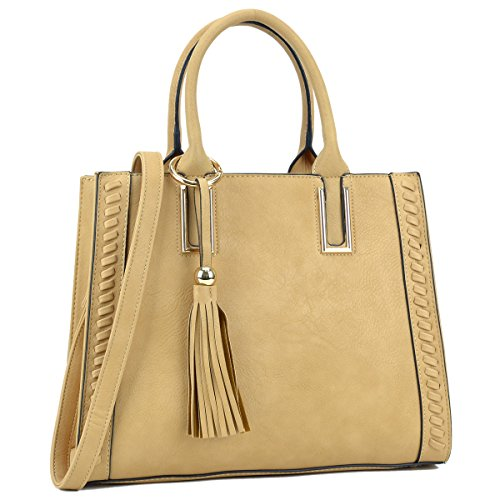 Lady Tassel Designer Satchel Handbags Vegan Leather Purses Shoulder Bags for Women with Shoulder Strap