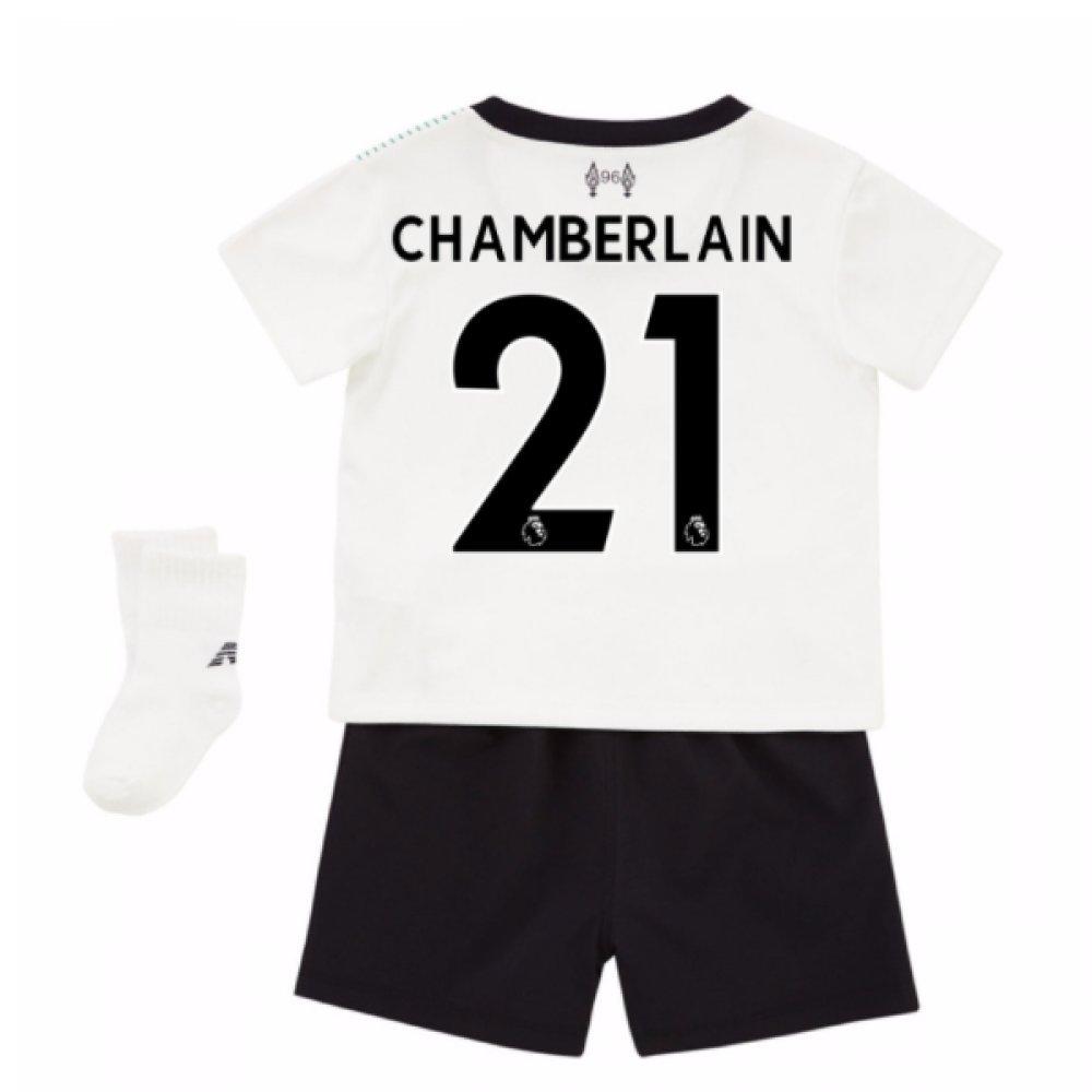 2017-18 Liverpool Away Baby Kit (Chamberlain 21) B077YM476PWhite 3-6 Mth (68cm)