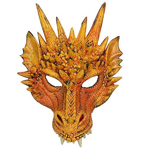 H&ZY Kids Fantasy Halloween Dinosaurio Dragon Costume Child Animal Mask Wing Tail -