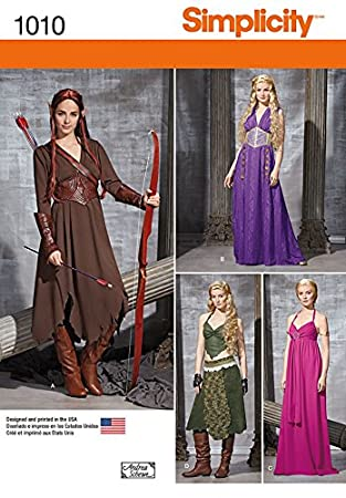 Simplicity Damen Schnittmuster 1010 Game of Thrones Stil Kleider ...