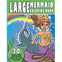 Large Mermaid Coloring Book: Unique and Cute Mermaid Coloring Page for girls Kids ages (2-4, 3-5, 4-8, 5-9 )
