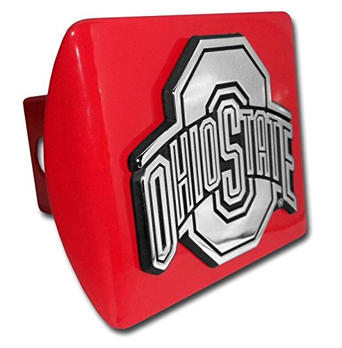 Elektroplate Ohio State University Red Hitch Cover