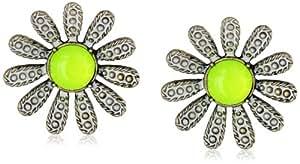 "Betsey Johnson ""Vintage Bugs"" Daisy Flower Stud Earrings"