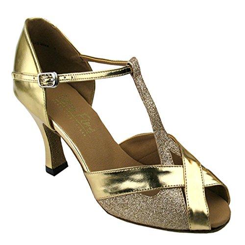 """50 Shades Of Gold Tanzschuhe Sammlung, Komfort Abendkleid Hochzeit Pumps: Ballroom Schuhe für Latin, Tango, Salsa, Swing, Kunst von Party Party (2,5 """"3"""" & 3,5 """"Heels) 2703 - Gold Stardust & Gold"""