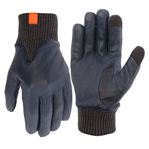 Honns Womens Genuine Leather Winter Gloves Tech Texting Touchscreen Warm Driving Grip