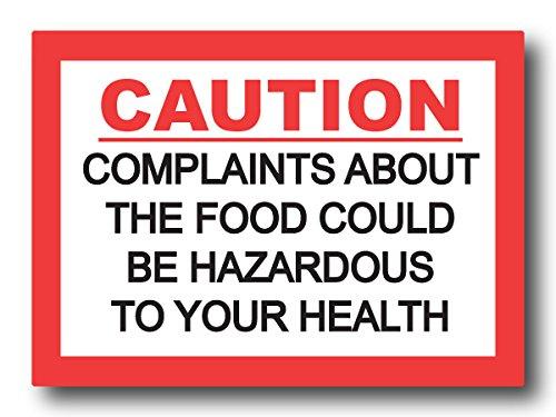 Nourish Complaints About The Food Fridge Magnet