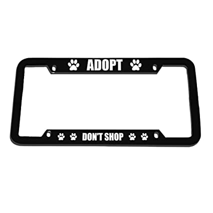 Amazon.com: Speedy Pros Adopt Don\'t Shop Zinc Metal License Plate ...