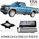 Scissor Jack & Spare Tire Lug Wrench Tool Kit For Chevrolet Silverado GMC Sierra