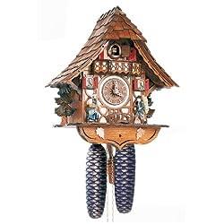 Schneider 12 Inch Black Forest Girl and Clock Peddler 8 Day Movement Cuckoo Clock