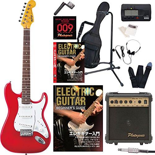 エレキギター 初心者セット ストラト ストラトキャスター タイプ 入門 セット KST-150 入門15点セット 教則DVD/オートチューナー/アンプ Photogenic PG10付属 (CAR) B01IESB8WI CAR CAR