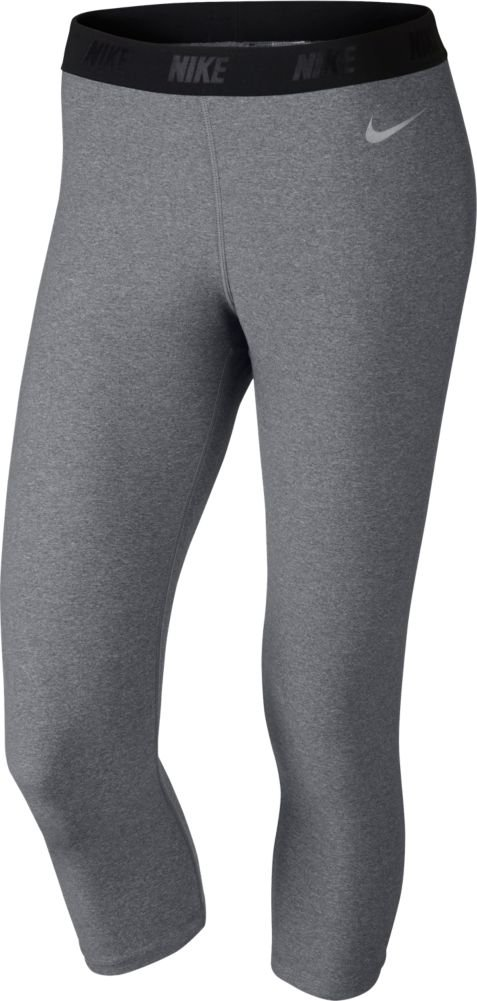 Nike Women's Solid Capri Tights (Carbon Heather, X-Small) by Nike