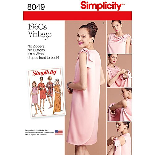 Simplicity 8049 1960's Vintage Fashion Women's Three Armhole Dress Sewing Pattern, Sizes 16-24 ()