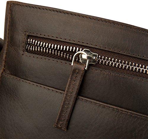 dbramante1928 Marselisborg Hochwertige Messenger Bag Ledertasche mit Verstellbarem Schultergurt für Laptops und Apple MacBooks bis 14 - Hellbraun (Tan) Dunkelbraun