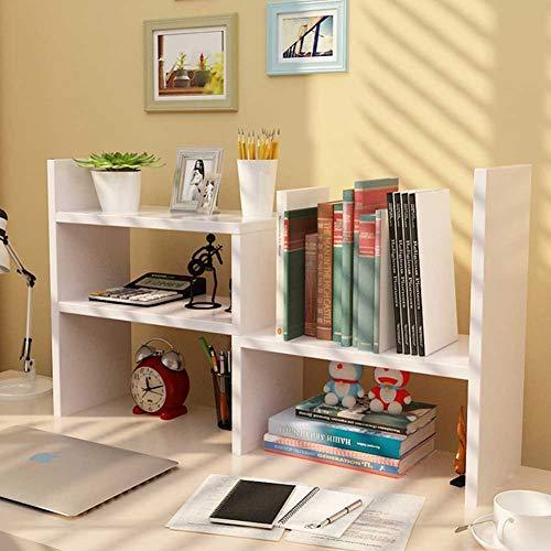 Desktop Organizer Office Storage Adjustable Display Bookshelf Double Shelf Desk Supplies for Office Kitchen Multipurpose Rack ()