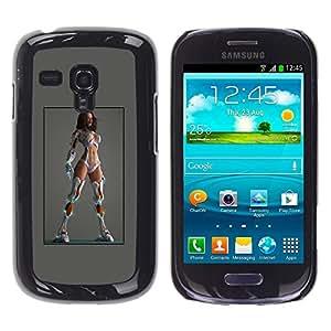 YOYOYO ( NO PARA S3 i9300 ) Smartphone Protección Defender Duro Negro Funda Imagen Diseño Carcasa Tapa Case Skin Cover Para Samsung Galaxy S3 MINI I8190 I8190N - trapos grises blancas piernas sexy lingerie