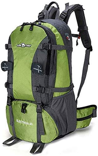 BAJIMI ハイキングバックパック、学生のバックパック、男性女性、グリーン、64Cm×41センチメートル×25センチメートルのための旅行バックパック防水通気性のトレッキングハイキング登山クライミングキャンプリュックサック