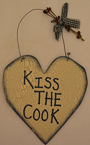 Rustic Hand Painted Country Wood Plaque Heart Cutout Sign Decoration with a Metal Wire for Hanging 7 1/2 x 8 x 1/16 Inches. Wooden Sign Saying