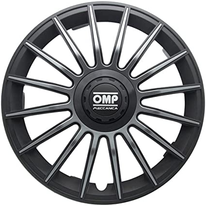 Negro//Carbono 13 Set de 4 OMP OMP1315 Tapacubos Formula