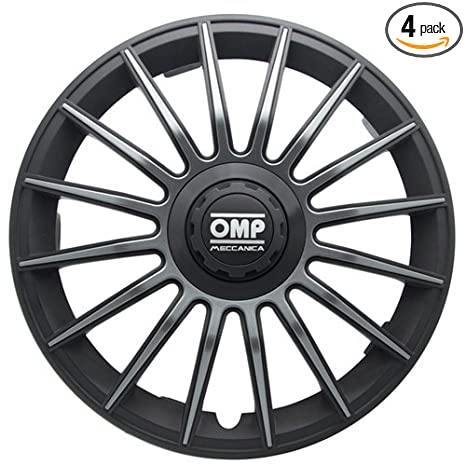 Amazon.com: OMP OMP1311 Formula Wheel Covers, Black/Grey, Set of 4, 13