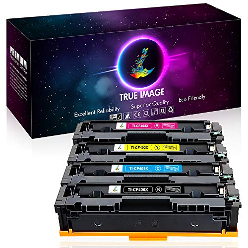 True Image Compatible Toner Cartridge Replacement for HP 508X 508A CF360A CF360X CF361X CF362X CF363X HP M553 Toner HP Color Laserjet Enterprise M553dn M577dn M553X M553N M552DN M577 M553 Printer Ink
