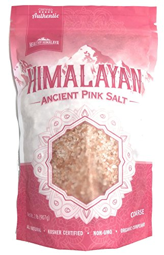 Healthy Himalaya Pink Ancient Salt - 100% Natural Sea Salt - Rich in Nutrients & Minerals for Good Health (Coarse, 2 Pound)
