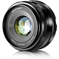 Neewer® 35mm f/1.7 Manual Focus Prime Fixed Lens for FUJIFILM APS-C Digital Cameras, Such as X-A1/A2, X-E1/E2/E2S, X-M1, X-T1/T10, X-Pro1/Pro2 (NW-FX-35-1.7)