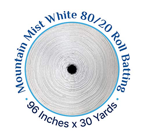 80/20 Natural Cotton Polyester Blend Batting 96 Inches by 30 Yards