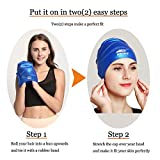 Swimming Cap for Long Hair,Waterproof Silicone Swim Cap for Women Men Kids Girls Child for Dreadlocks&Short Hair Keeps Hair Clean Ear Dry with Ear Protection for Swimming