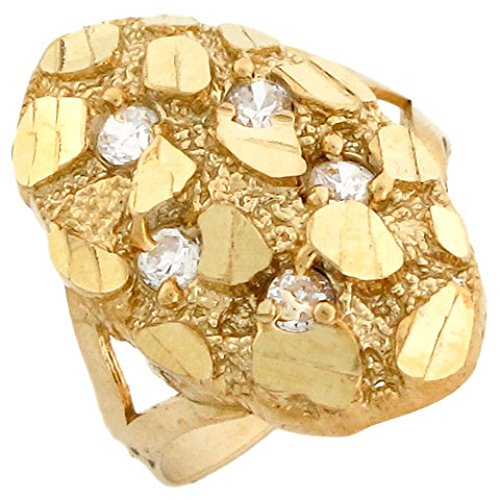 10k Gold Nugget Ring For Sale Only 4 Left At 65