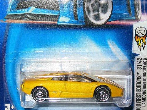 Hot Wheels 2003-043 First Editions Yellow Lamborghini Murcielago 1:64 Scale