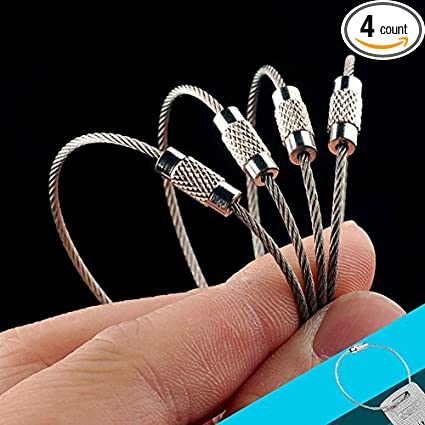 Amazon.com: OneTigris 4pcs Heavy Duty Cable inoxidable ...