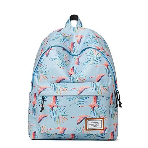 SDINAZ Mochila de mujer Moda impresión pequeña viaje casual mochila estudiante cartera bolsa de portátil para niñas Verde Azul