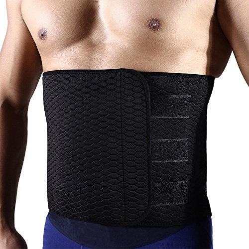 Back Brace/Support, Sweat Waist Trimmer with Adjustable Widened Ab Sauna Belt for Man-for Lower Back Pain Relief/Weight Loss/Abdominal Muscle/Back Support by (Muscle Man Weight)